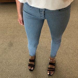 H&M hight waist striped denim